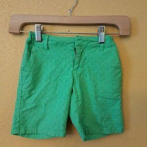 GAP kids green shorts